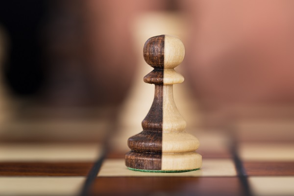 Two tone chess piece