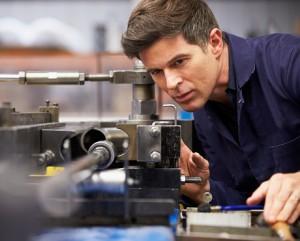 An engineer working on an engineering task