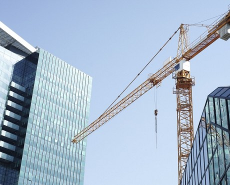 crane against city skyline | Kerry London Construction insurance