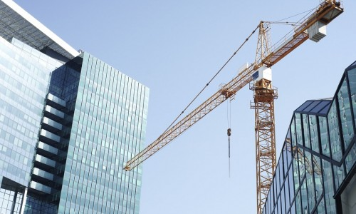 crane against city skyline | Kerry London Construction insurance