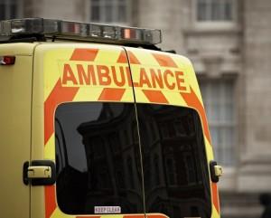 UK ambulance representing Emergency vehicle insurance