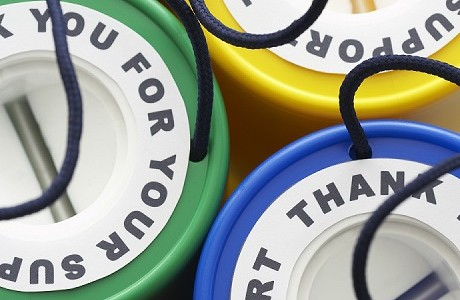 Collecting tins reflecting Charity and Trustee Liability insurance