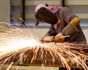 Heavy manufacturing in progress