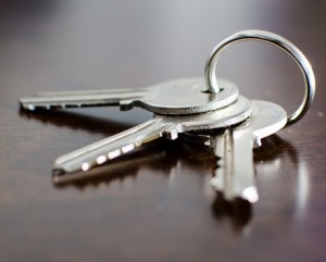 3 keys on a shiny wooden surface representing Loss of rent