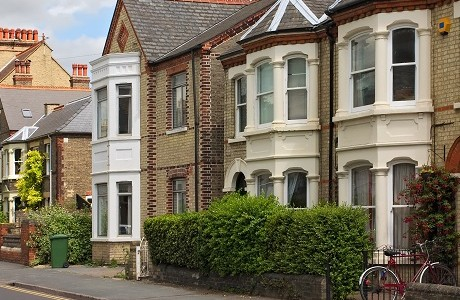Terraced period houses representing Landlord insurance