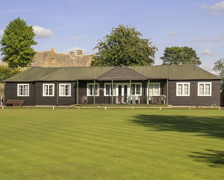Picture of a cricket pavilion representing Sports Clubs and Stadia insurance