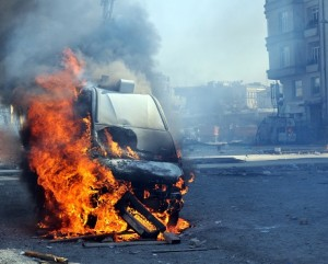 Picture of a burnt out vehicle