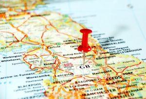 regional brokers map illustration